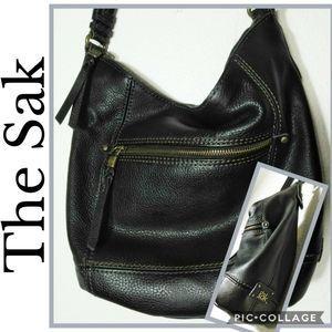 The Sak 100% Leather Black Shoulder Bag